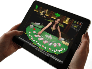 Playing live blackjack with real dealer
